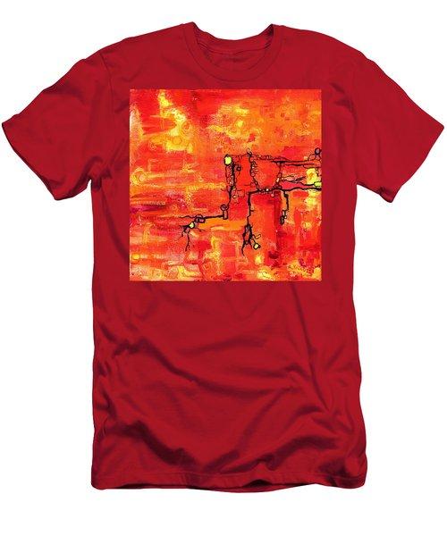 Dendritic Echoes Men's T-Shirt (Athletic Fit)