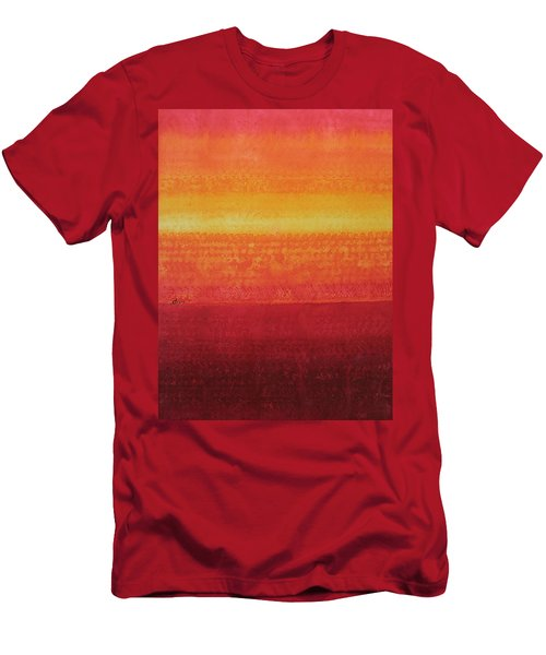 Desert Horizon Original Painting Men's T-Shirt (Athletic Fit)
