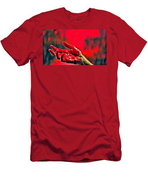 Dexter Bloody Hand Men's T-Shirt (Athletic Fit)
