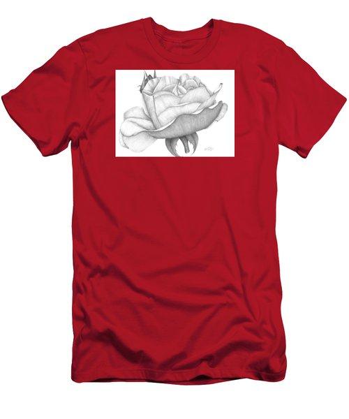 Distant Drum Rose Bloom Men's T-Shirt (Athletic Fit)