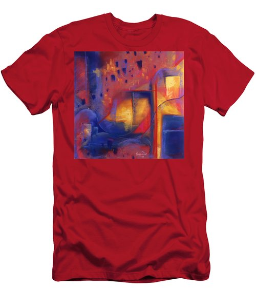 Men's T-Shirt (Slim Fit) featuring the pastel Doorways by Susan Will