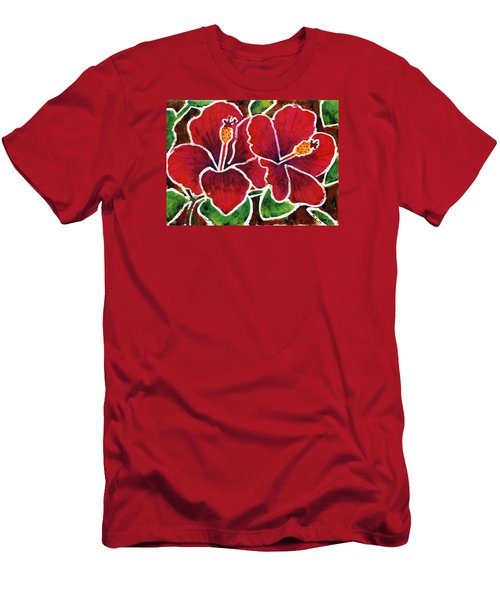 Double Hibiscus Men's T-Shirt (Athletic Fit)