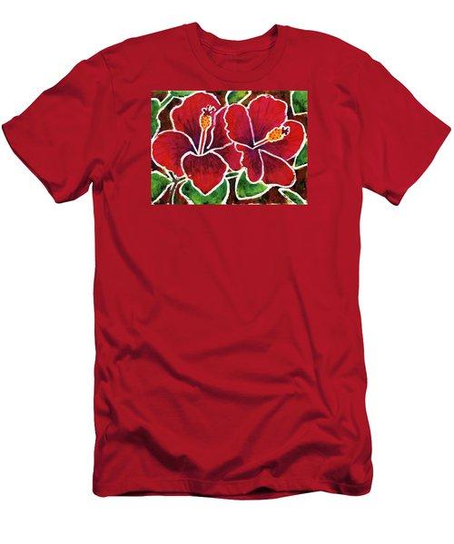 Double Hibiscus Men's T-Shirt (Athletic Fit)