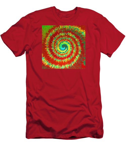 Double Spiral  C2014 Men's T-Shirt (Slim Fit) by Paul Ashby