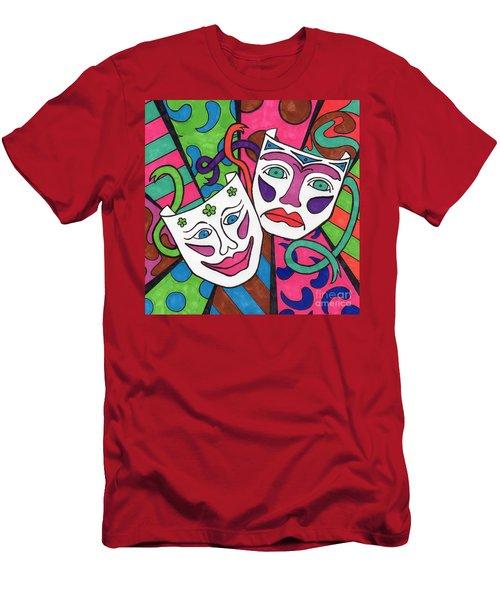 Drama Masks Men's T-Shirt (Athletic Fit)