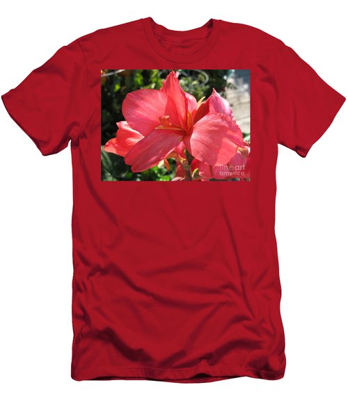 Dwarf Canna Lily Named Shining Pink Men's T-Shirt (Slim Fit) by J McCombie