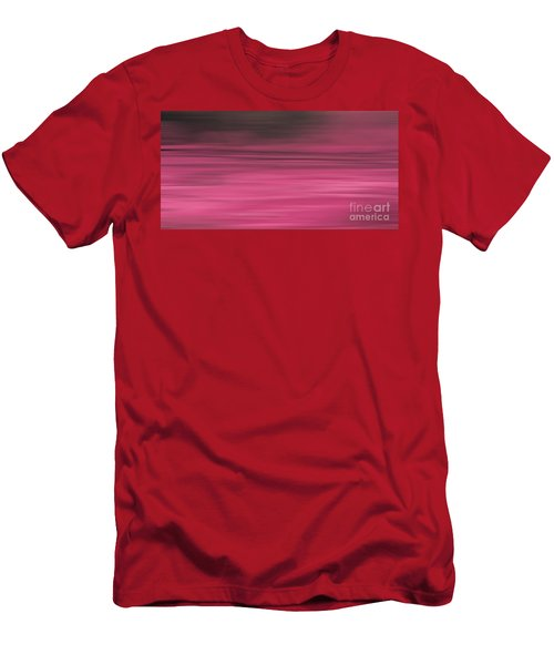 Abstract Earth Motion Aubergine Men's T-Shirt (Athletic Fit)