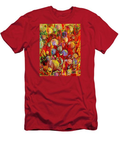 Men's T-Shirt (Athletic Fit) featuring the painting Effervesce by Nancy Cupp