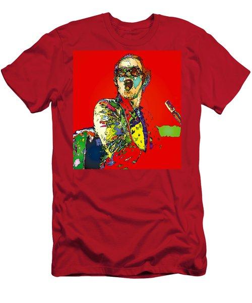 Elton In Red Men's T-Shirt (Slim Fit) by John Farr