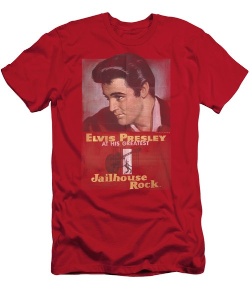 Elvis - Jailhouse Rock Poster Men's T-Shirt (Athletic Fit)