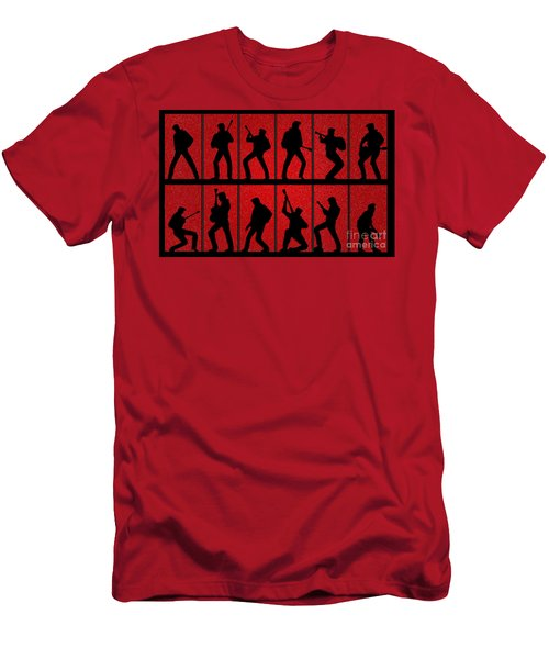 Elvis Silhouettes Comeback Special 1968 Men's T-Shirt (Athletic Fit)