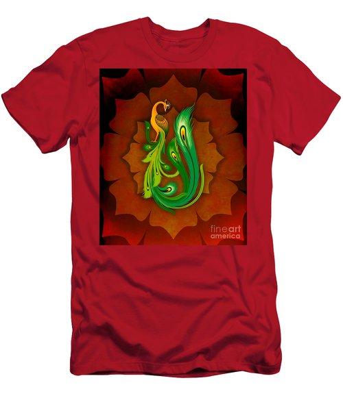 Enchanting Peacock 1 Men's T-Shirt (Athletic Fit)