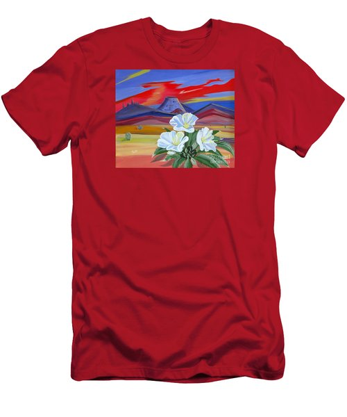 Men's T-Shirt (Slim Fit) featuring the painting Evening Primrose by Phyllis Kaltenbach