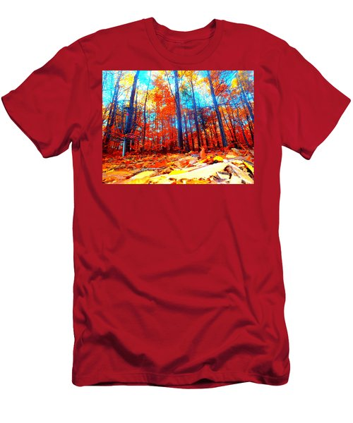 Fall On Fire Men's T-Shirt (Athletic Fit)