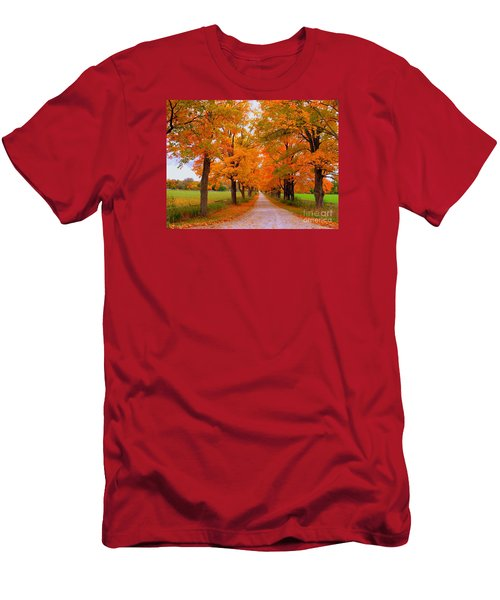 Falling For Romance Men's T-Shirt (Slim Fit) by Lingfai Leung