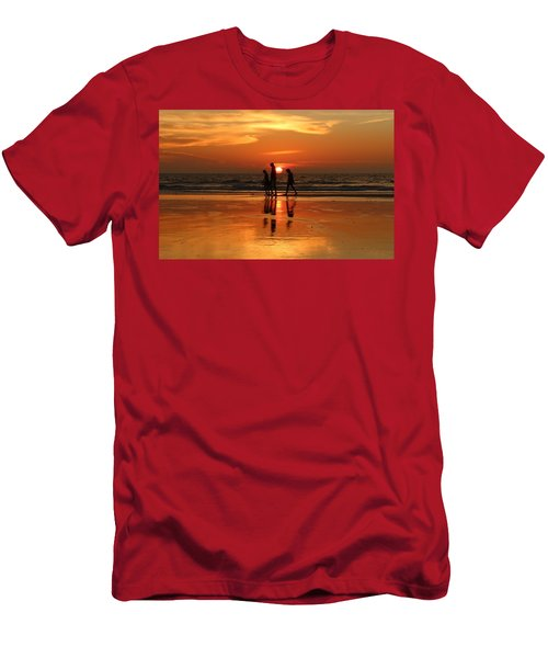 Family Reflections At Sunset - 1 Men's T-Shirt (Athletic Fit)