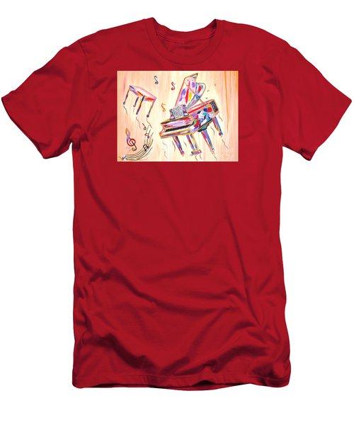 Fantasy Impromptu Men's T-Shirt (Slim Fit) by Phyllis Kaltenbach