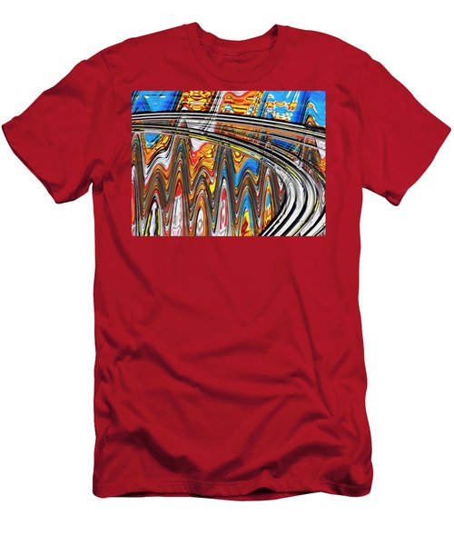 Men's T-Shirt (Slim Fit) featuring the digital art Highway To Nowhere Abstract by Gabriella Weninger - David