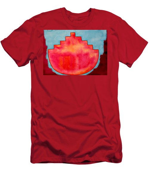 Fat Sunrise Original Painting Men's T-Shirt (Athletic Fit)