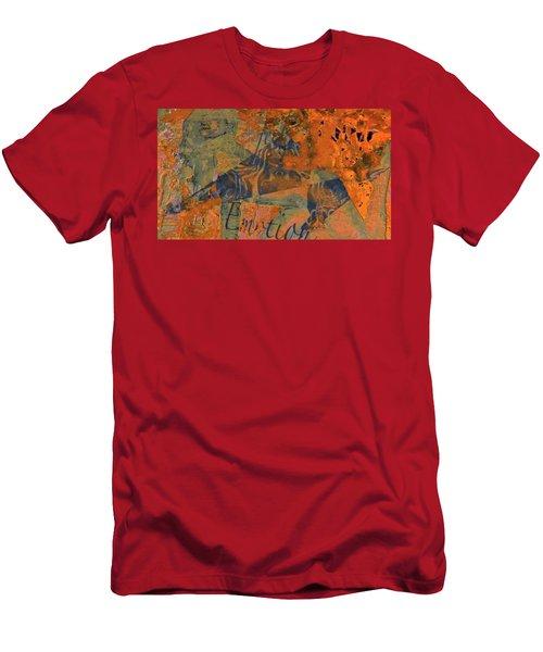 Feel Emotion Orange And Green Men's T-Shirt (Slim Fit) by Deprise Brescia