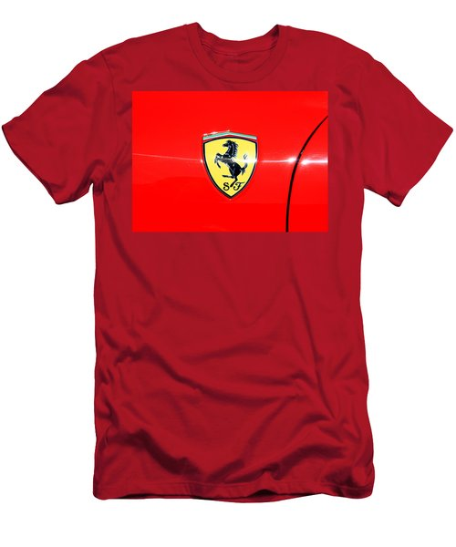 Ferrari Logo Men's T-Shirt (Athletic Fit)