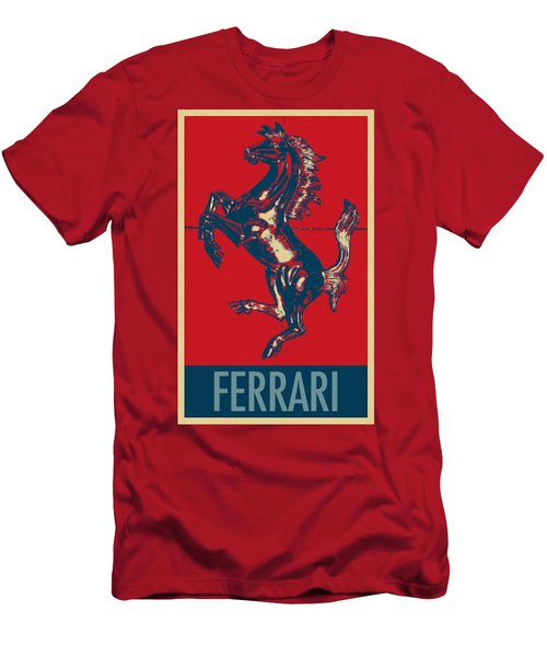 Ferrari Stallion In Hope Men's T-Shirt (Athletic Fit)