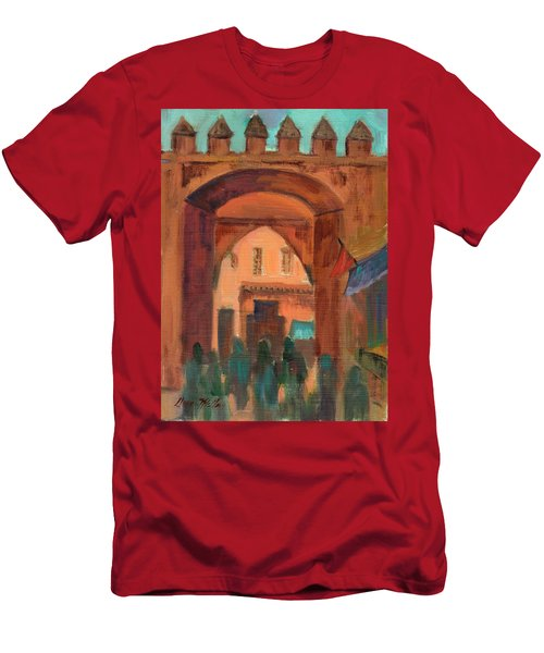 Fez Town Scene Men's T-Shirt (Athletic Fit)