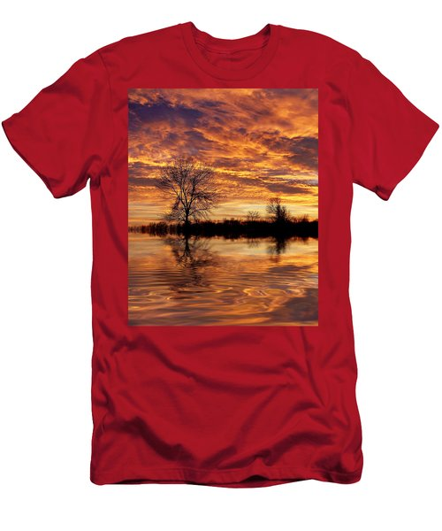 Fire Painters In The Sky Men's T-Shirt (Athletic Fit)
