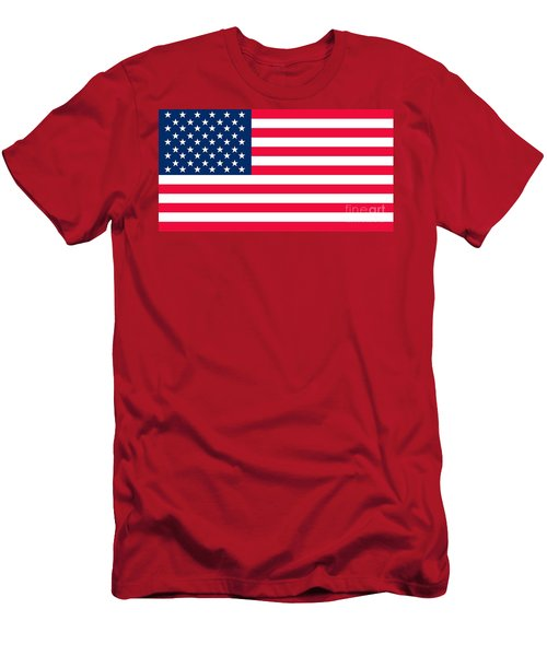 Flag Of The United States Of America Men's T-Shirt (Athletic Fit)