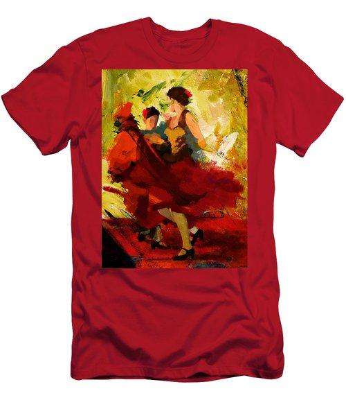 Flamenco Dancer 019 Men's T-Shirt (Athletic Fit)