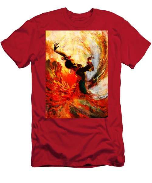 Flamenco Dancer 021 Men's T-Shirt (Athletic Fit)