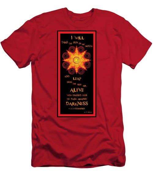 Flaming Celtic Sun Men's T-Shirt (Athletic Fit)