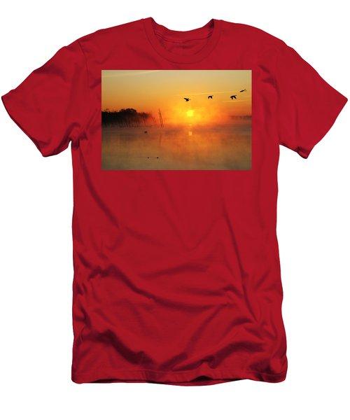 Flight At Sunrise Men's T-Shirt (Athletic Fit)
