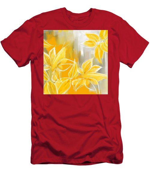 Floral Glow Men's T-Shirt (Athletic Fit)
