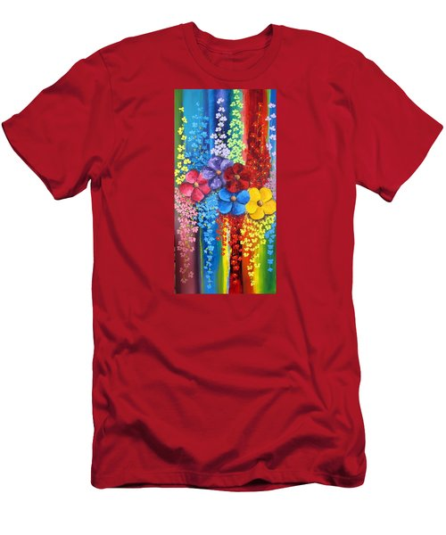 Flower Shower Men's T-Shirt (Slim Fit) by Katia Aho