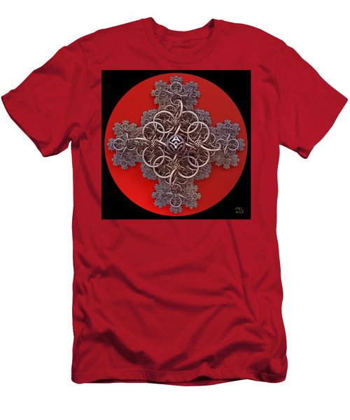 Men's T-Shirt (Slim Fit) featuring the digital art Fractal Cruciform by Manny Lorenzo