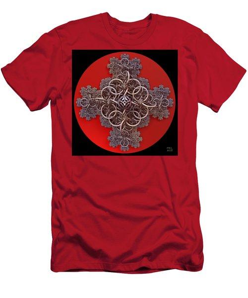 Fractal Cruciform Men's T-Shirt (Athletic Fit)