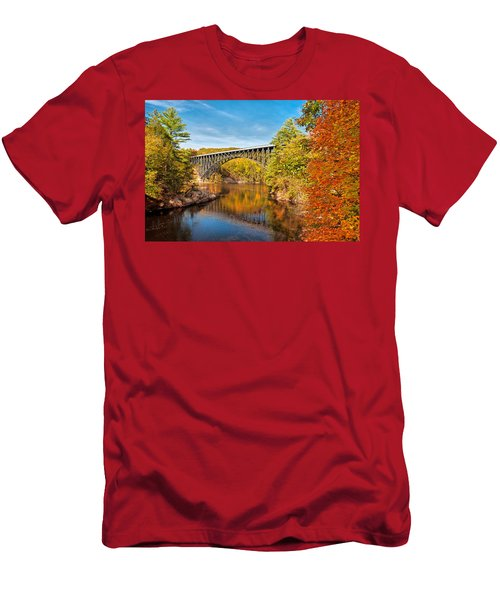 French King Bridge In Autumn Men's T-Shirt (Athletic Fit)