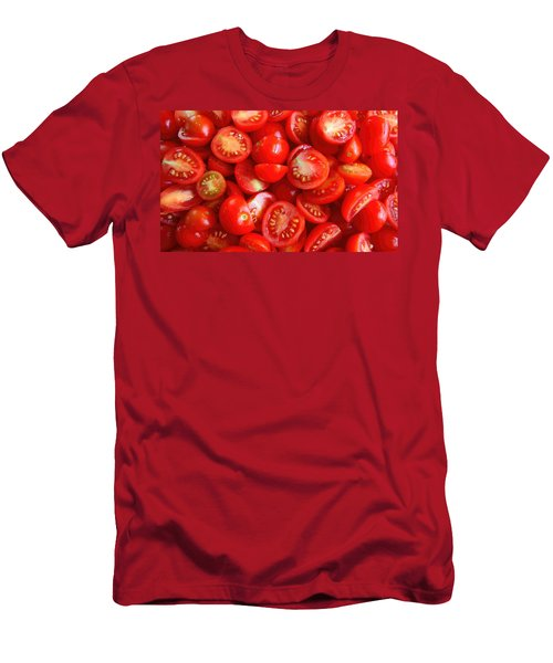 Fresh Red Tomatoes Men's T-Shirt (Slim Fit) by Amanda Stadther