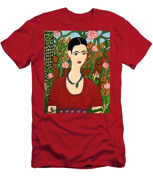 Frida With Vines Men's T-Shirt (Slim Fit) by Stephanie Moore