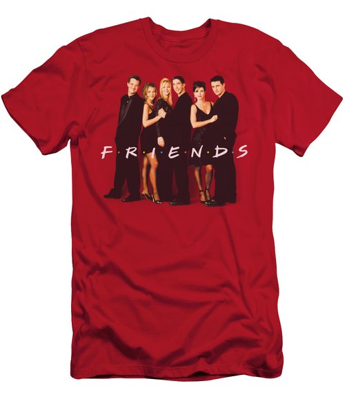 Friends - Cast In Black Men's T-Shirt (Athletic Fit)