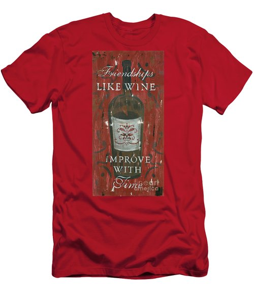 Friendships Like Wine Men's T-Shirt (Athletic Fit)