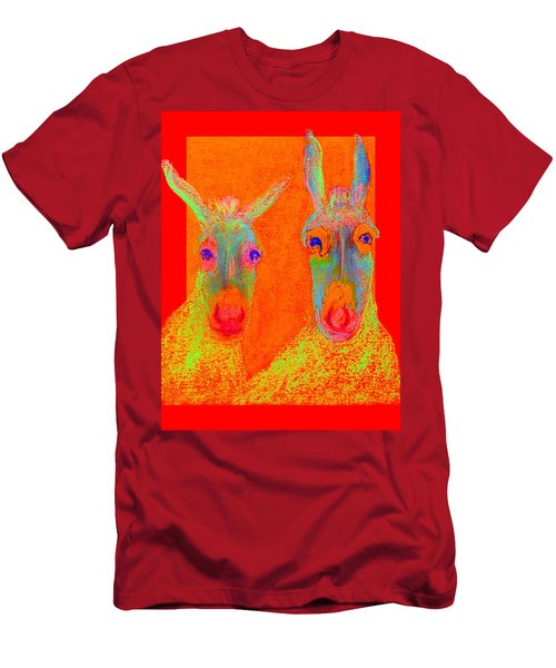 Funky Donkeys Art Prints Men's T-Shirt (Athletic Fit)