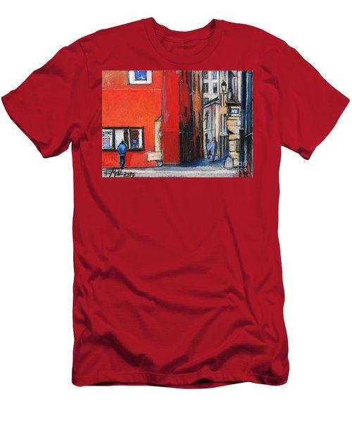 Gadagne Museum Facade In Lyon France Men's T-Shirt (Athletic Fit)