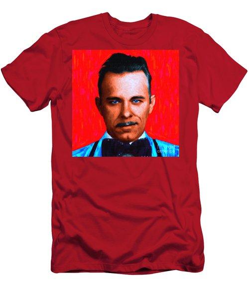 b20af37f Gangman Style - John Dillinger 13225 - Red - Painterly Men's T-Shirt  (Athletic