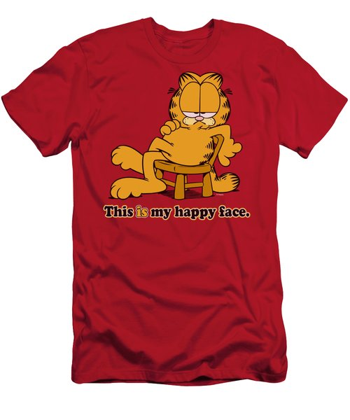 Garfield - Happy Face Men's T-Shirt (Athletic Fit)