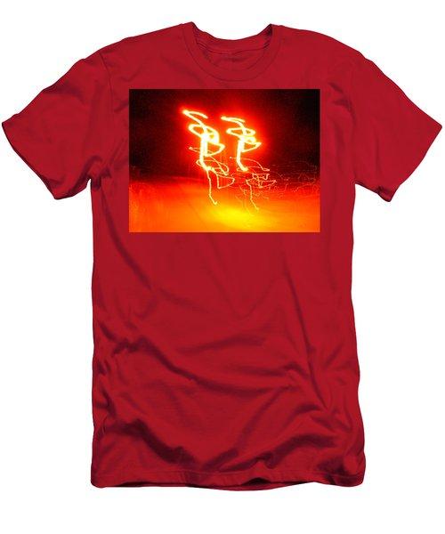 Geranium Lazer Fusion Men's T-Shirt (Athletic Fit)