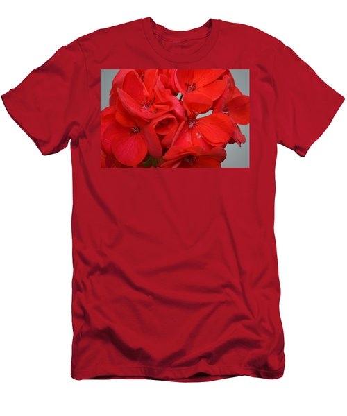Geranium Red Men's T-Shirt (Athletic Fit)
