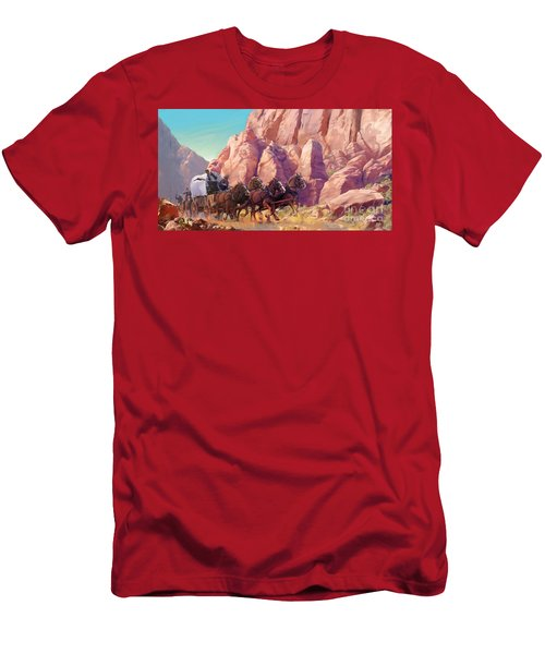 Men's T-Shirt (Slim Fit) featuring the painting Gett'en Through by Rob Corsetti