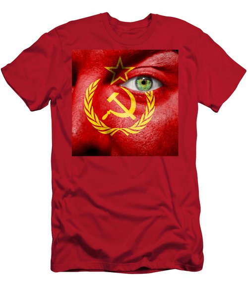Go Ussr Men's T-Shirt (Slim Fit) by Semmick Photo